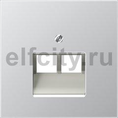 Крышка для сдвоенной телефонной и компютерной розетки UAE; алюминий