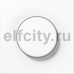 Диммер (светорегулятор) поворотный 60-600 Вт для ламп накаливания 220В, пластик белый глянцевый