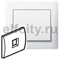 Лицевая панель - Galea Life - для телефонной розетки RJ11 и RJ ISDN - White