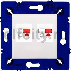 Розетка двойная, для стерео-громкоговорителя, белый