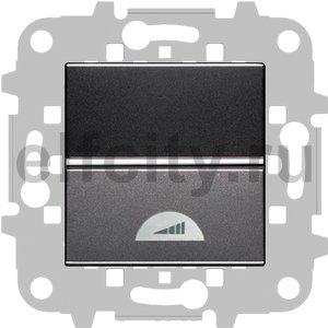 Диммер (светорегулятор) клавишный 40-400 Вт для ламп накаливания и галогенных 220В, антрацит