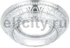 Точечный светильник Glass Round, кристалл/хром