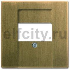 Плата центральная (накладка) для механизмов UAE/TAE, для 0247 и 0248, серия Династия, Латунь античная