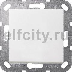 Выключатель одноклавишный, универс. (вкл/выкл с 2-х мест) 10 А / 250 В, пластик белый матовый