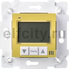 FD18000OB Терморегулятор Цифровой. 16A, с LCD монитором. Кабель 4м. в комплекте, цвет bright gold