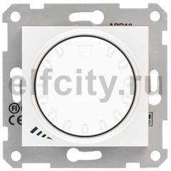 Диммер (светорегулятор) поворотный 40-1000 Вт для ламп накаливания и галогенных 220В, белый