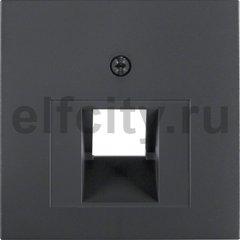 Центральная панель для розетки UAE цвет: антрацитовый, матовый Berker B.1/B.3/B.7 Glas