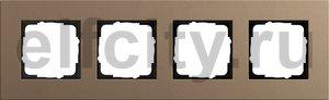 Рамка 4 поста, для горизонтального/вертикального монтажа, светло-коричневый