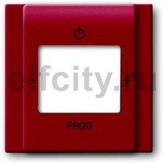 Плата центральная (накладка) для механизма цифрого FM-радио 8215 U, серия impuls, цвет бордо/ежевика