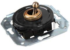 Выключатель тумблерный 2-х позиционный для внутреннего монтажа проходной, черный