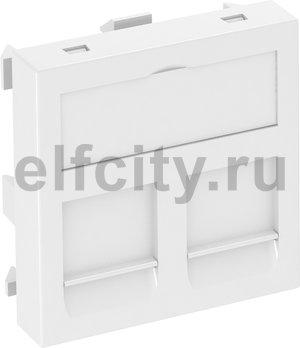 Корпус компьютерной розетки Modul45 тип OBO (прямой) 45x45 мм (белый)