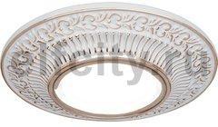 Точечный светильник Antique Round, белый/золото