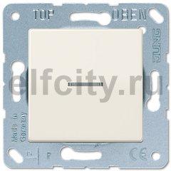 Выключатель одноклавишный с подсветкой, универс. (вкл/выкл с 2-х мест) 10 А / 250 В, слоновая кость