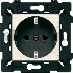 Розетка с заземляющими контактами 16 А / 250 В, white decape/черный