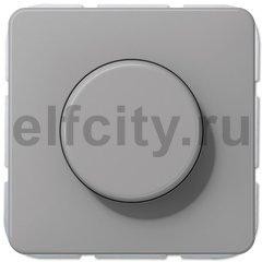 Диммер (светорегулятор) поворотный 20-525 Вт для ламп накаливания и галогенных 220В, серый
