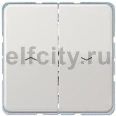 Выключатель управления жалюзи кнопочный, 10 А / 250 В, светло-серый