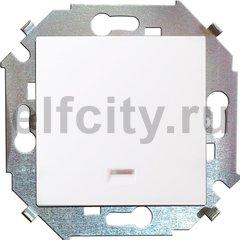 Выключатель одноклавишный, с подсветкой, 10 А / 250 В, белый