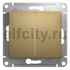 Выключатель двухклавишный, 10 А / 250 В, титан