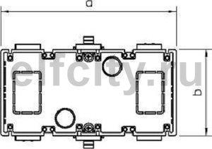 Монтажная коробка GED для устройств CEE (белый)