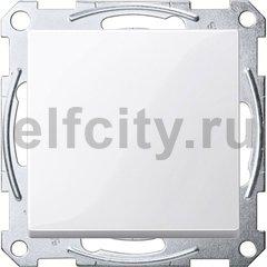Выключатель одноклавишный, проходной (вкл/выкл с 2-х мест) 10 А / 250 В, пластик белый глянцевый