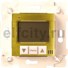 Термостат для электрического подогрева пола 230 В~ 16А , с датчиком температуры пола, бронза светлая/бежевый