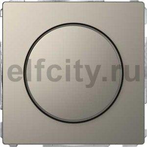 Диммер (светорегулятор) поворотно-нажимной 60-400 Вт для ламп накаливания и галогенных 220В, никель