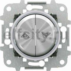 Выключатель управления жалюзи, с механической блокировкой одновременного нажатия двух клавиш, 10 А / 250 В, хром