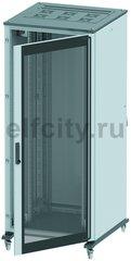 Напольный шкаф 24U Ш600хГ1000 передняя дверь стекло, задняя глухая дверь, крыша укомплектована вводом и заглушками