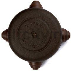 "Распаечная коробка, диаметр 108 мм, metallic ""под старину"""