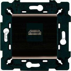 Розетка HDMI, графит/чорный