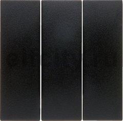 Клавиши для трехклавишного выключателя цвет: антрацитовый, матовый Berker B.1/B.3/B.7 Glas