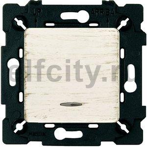 Выключатель одноклавишный с подсветкой, универсальный (вкл/выкл с 2-х мест) 10 А / 250 В, white decape