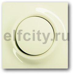Выключатель перекресный, одноклавишный с подсветкой, (вкл/выкл 3-х мест) 10 A / 250 B, пластик кремовый глянцевый