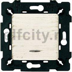 Выключатель одноклавишный с подсветкой, 10 А / 250 В, white decape