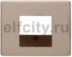Центральная панель для розетки TAE, Arsys, цвет: светло-бронзовый, металл