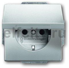 Розетка с заземляющими контактами 16 А / 250 В, с крышкой и защитой от детей, автоматические зажимы, с покрытием против отпечатков пальцев, нержавеющая сталь
