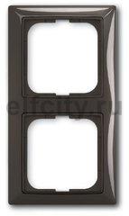 Рамка 2 поста, для горизонтального/вертикального монтажа, шато-черный