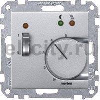 Термостат 230 В~ 8А  с выносным датчиком, для электрического подогрева пола, пластик под алюминий