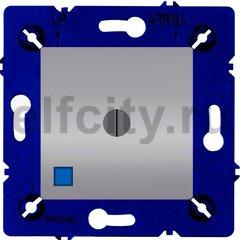 Выключатель поворотный с подсветкой, 10 А / 250 В, светлый хром