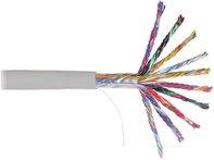 ITK Кабель связи витая пара U/UTP, кат.5E 50х2х24AWG solid, PVC, 305м, серый