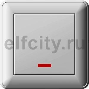 W59 1-клавишный ПЕРЕКЛЮЧАТЕЛЬ перекрестный с подсветкой, 16АХ, в сборе, СЛ.КОСТЬ