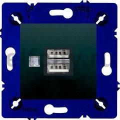 Зарядное устройство USB с двумя выходами, для серии Marco, черный