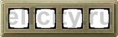Рамка 4 поста, для горизонтального/вертикального монтажа, бронза