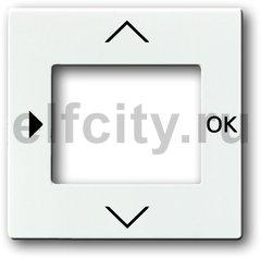 Плата центральная (накладка) для таймера 6455, 6456, серия solo/future, цвет davos/альпийский белый