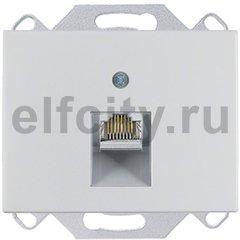 Розетка компьютерная одинарная RJ45 UTP, 5-й кат, алюминий