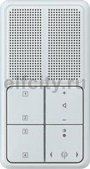 Радиоприемник скрытого монтажа с RDS с динамиком, светло-серый