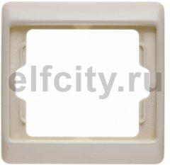 Рамка 1 пост, пластик кремовый (белый с блеском)