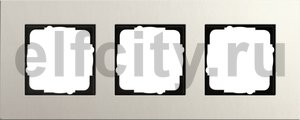 Рамка 3 поста, для горизонтального/вертикального монтажа, светло-серый