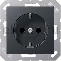 Штепсельная розетка SCHUKO 16A 250V~; термопласт; антрацит