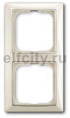 Рамка 2 поста, для горизонтального/вертикального монтажа, шале-белый